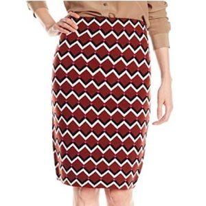 Trina Turk Fanciful Tipsy zig zag knit skirt